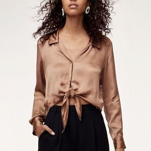 Wilfred TIe front blouse